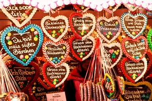 image showing a PAHNA Gingerbread Heart, which can be bought as stocking fillers at Winter Wonderland Stoke